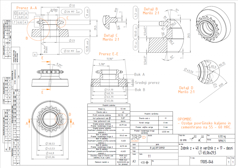Beveloid gear drawing