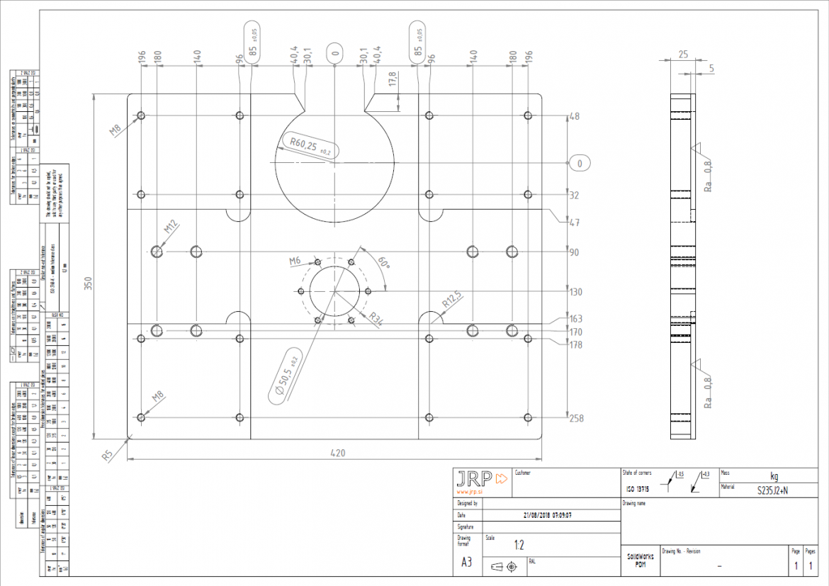 Technical Drawing Example