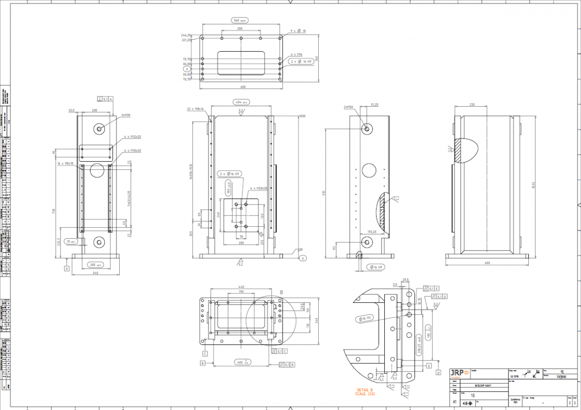 Industrial automation line drawing